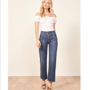 Reformation Clint High Rise Jeans in Teton Wash